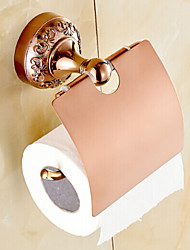 Neoclassical Rose Gold Finish Brass Material Toilet Paper Holder