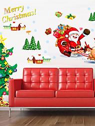 Christmas   Plane Wall Stickers  Wall Decor , PVC Removable