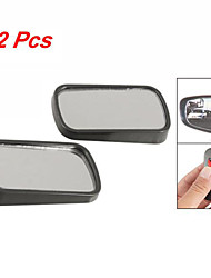 2 Pcs Rectangle Shape Black Safety Auto Flat Rearview Blind Spot Mirrors