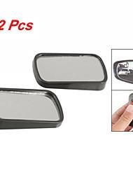 2 шт черный прямоугольник безопасности авто с плоским заднего вида руло