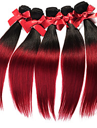 Ombre Virgin Malaysia Straight Hair Weaves Two Tone Silky Straight Human Hair Weavings 1pcs Hair Wefts 50g/pcs