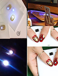 1PC Japan NFC Chip Nail Stickers Lighting Nails Decal Tools  Light Three Color Options