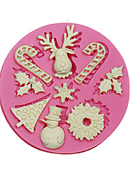 Fondant Silicone Mold Cake Decorating Tools Christmas Silicone Mold For Cupcake Candy Chocolate Soap Arts & Crafts