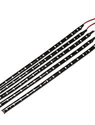 5 x 30cm impermeable del smd 3528 de color rojo 15 llevó la tira flexible del coche bombilla dc 12v