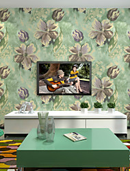 Contemporary Wallpaper Art Deco 3D Garden Flower Wallpaper Wall Pure Paper Wall Art
