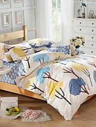 mingjie® arbustos azul e amarelo rainha e twin tamanho cama 4pcs conjuntos lixar para meninos e meninas roupa de cama china