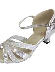 Zapatos de baile (Plata) - Danza latina / Salsa - Personalizados - Tacón Personalizado