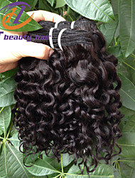 Cheap Price 3Pcs/Lot 10inch Brazilian Virgin Hair Water Wave Black Color Raw Human Hair Weaves