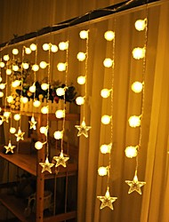 Christmas Curtain Ktv Bars Wedding Twinkle Waterfall Lights Decoration Lamps Waterproof String Light 3.5M
