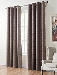 TWOPAGES Zac Collection Woodgrain Classic Diamond Soft Handfeel Panel CurtaIn Drapes (One Panel) Stone