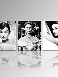 VISUAL STAR®Audrey Hepburn Poster Print on Canvas Star Wall Picture for Home Decoration Ready to Hang