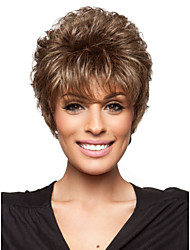 Fashionable Women's Glueless Deep Curly Short Hair Wig for African American