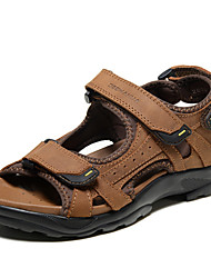 Men's Shoes Outdoor / Athletic / Casual Leather Sandals Brown / Gray