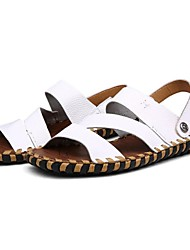 Men's Shoes Outdoor / Athletic / Casual Leather Sandals Brown / White