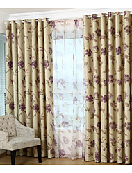 Country Curtains® Two Panels Floral Blackout Curtains Drapes