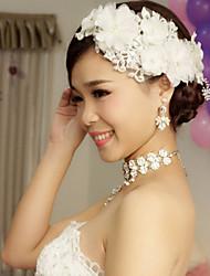 Korean Manual White Lace Headdress Flower Bride