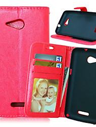 PU de haute qualité portefeuille en cuir téléphone mobile cas étui pour Sony Xperia e4 / E4G / m4 / m2 / Z3 / Z4 / z1 un mini / mini-Z3