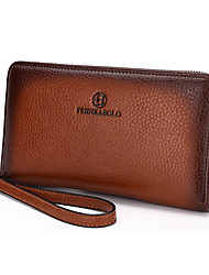 Men Bags All Seasons Cowhide Wallet with for Wedding Event/Party Casual Office & Career Brown Blue Khaki