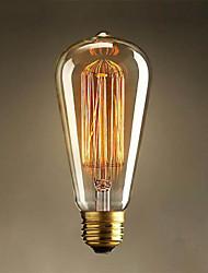E27 40W ST64 Edison Art Deco Tungsten Light Source