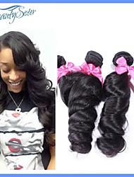 New 7A Peruvian Virgin Hair Loose Wave 3Pcs Lot Peruvian Human Hair Weaves Color1B