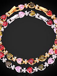 Goud / Zilver / Cubic Zirconia / Legering Dames Chain Armbanden Bergkristal
