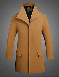 Men's Pan Collar Coats & Jackets Plus Size, Tweed Long Sleeve Casual / Work Fashion Winter Wshgyy