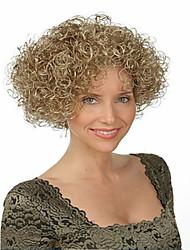 qualidades naturais peruca sintética encaracolado curto melhor venda