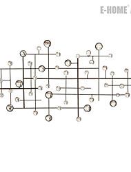 e-FOYER mur d'art de mur en métal décor, brille cercle mur décor un pcs