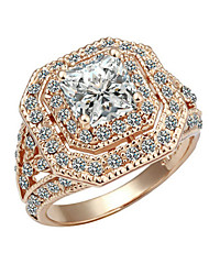 Ring Women's Cubic Zirconia Alloy Alloy 7 / 8 / 9 Gold