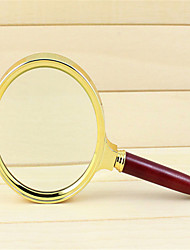 Mahogany Handle Gold-Plated High-End Gift Magnifying Glass to Read the Hand-Held Magnifying Glass Magnifier Old