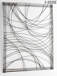E-HOME® Metal Wall Art Wall Decor,Silver Abstract Pattern Wall Decor One PCS