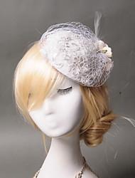 Women's Lace / Feather / Net Headpiece-Wedding / Special Occasion / Casual Fascinators 1 Piece