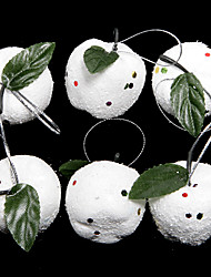 Christmas 4cm Plastic Foam Apple Ornament Set(6 PCS)