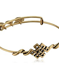 """Spiritual Armor"" Endless Knot Expandable Wire Bangle Bracelet (Internal Diameter :65mm)"