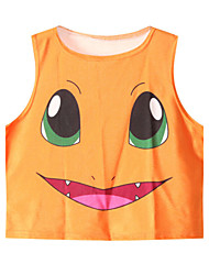 Women's Orange Charmander Crop Top