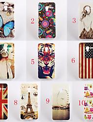 For Alcatel Case Pattern Case Back Cover Case Cartoon Soft TPU Alcatel