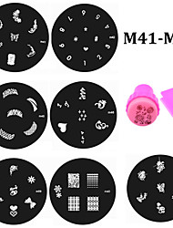 20pcs Nail Plates and Stamper Scraper Set,Nail Art Polish Stamp Stamping Stencils Manicure Nail Tools M41-M60