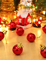 3cm A Packet Of 12 Christmas Decorations  Light Christmas Balls A Packet Of 12
