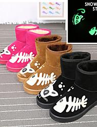 Zapatos de mujer - Tacón Plano - Botas de Nieve - Botas - Exterior / Casual - Sintético - Negro / Marrón / Rosa