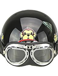 CARCHET Mezzo Casco Caschetto Moto Occhiali Prottetivi Visiera Cappello Sciarpa
