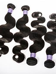 mejor calidad 7a cuerpo brasileño Wavee mucho pelo virginal 4pcs 100 g / 3,5 oz 100% del pelo humano sin procesar teje