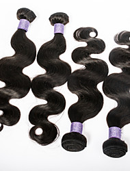 Best Quality 7A Brazilian Body Wavee Virgin Hair 4pcs lot 100g/3.5oz 100% Unprocessed Human Hair Weaves