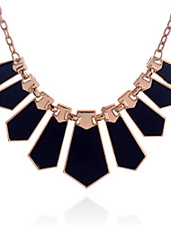 Women's Pendant Necklaces Statement Necklaces Acrylic Alloy Fashion Black Jewelry Party Daily Casual 1pc