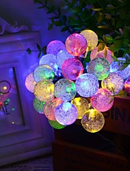 King Ro solar 19.7ft 30LED Christmas Ball Light Outdoor Waterproof String Light