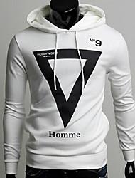 Informell / Business Kapuzenshirt - Langarm - MEN - Pullover mit / ohne Mützen ( Baumwoll Mischung )