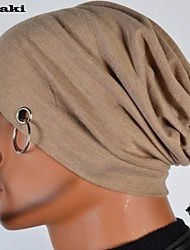 LOKA Soild Cotton Unisex  Hat Scarf 2 Useful with Metal Ring LZ004