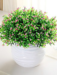 10 Bouquet Little Grain Flower Fake Plant(5 Head/Bouquet)
