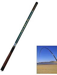 Small Rice 3608 Handy Extendible Plastic Fishing Pole - Green + Brown (3.6m)