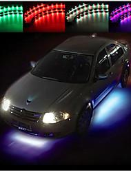 set 4 bajos coche bajo el neón sistema resplandor de 7 colores llevó la tira luz