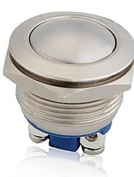 12v bouton-poussoir métallique étanche momentanée hors corne voiture de commutation